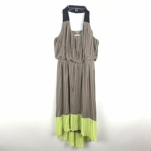 Jessica Simpson Ruffled High Low Halter Dress
